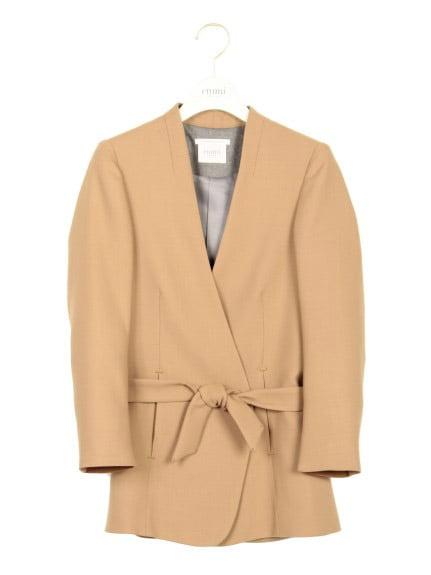 【emmi atelier】ベルト付きジャケット